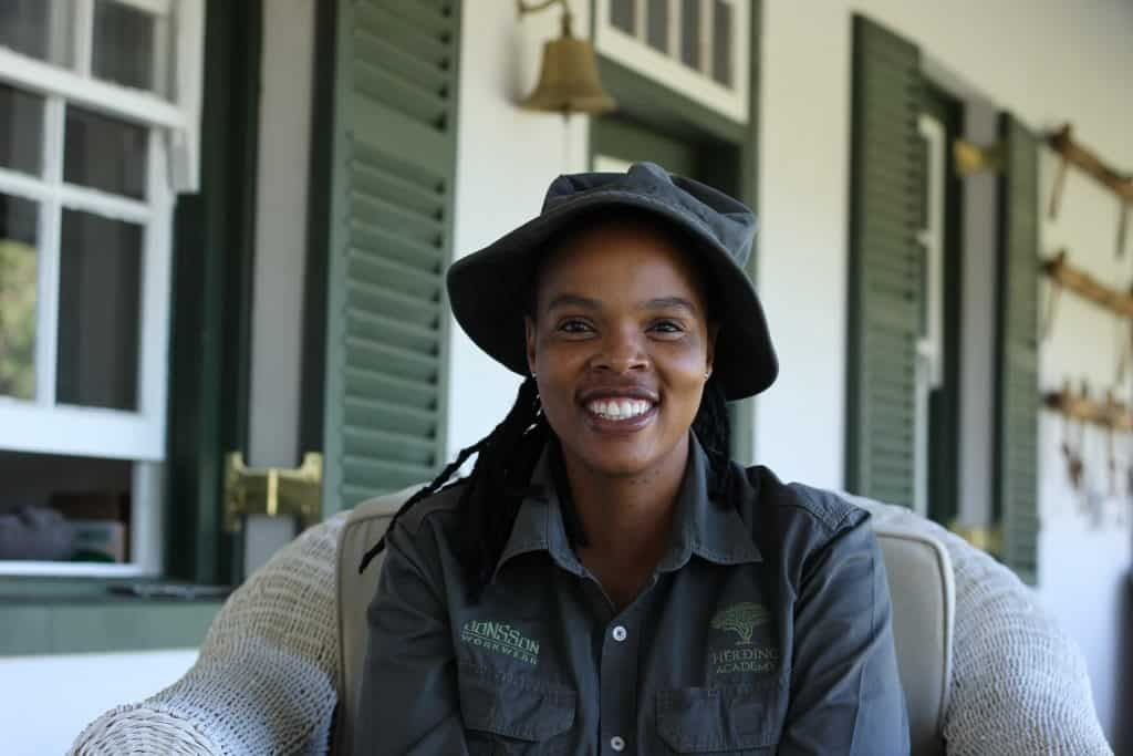Phumla Zweni, who has been a volunteer paravet in and around Matatiele, is thrilled that by the end of this course, she will be able to train others in care for the land and animals.