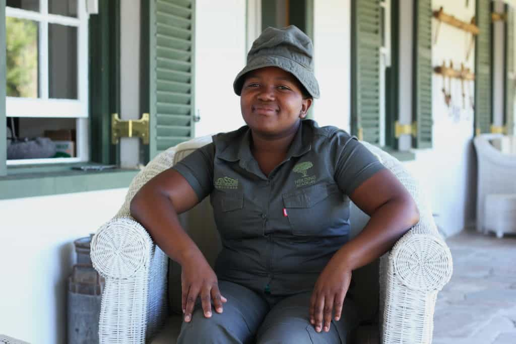 Nomahlubi Simoyisi looks forward to learning more about livestock management.