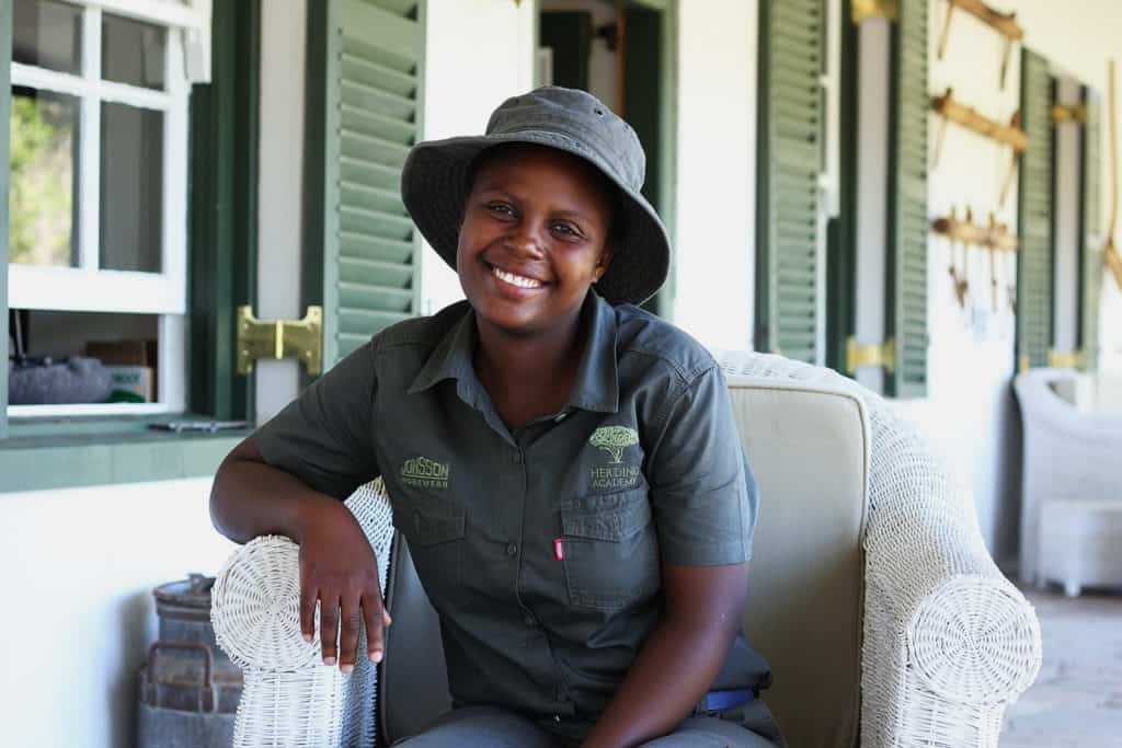 Princess Taele (22), who used to sell Tupperware for extra money while studying computer literacy in Matatiele; she dreams of having her own sheep farm one day.
