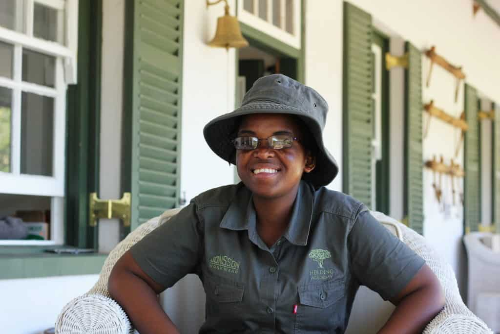 """Nwabisa Mkhandlwana (3) of Makhoba village said that before she arrived at the Herding Academy she had no idea that erosion and veld degradation could be fixed. """"I want to teach the younger generation to do things themselves, and not depend on Government."""""""