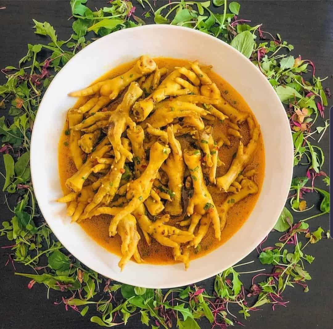 Chef Cebo's spicy amawotana are rich in collagen and tasty.