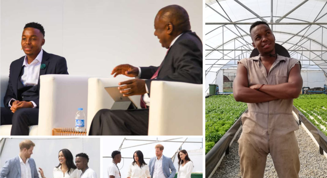 Urban aquaponics pioneer Mosesi Mosesi is ripping up the script for agricultural norms. He has even met the royals and the South Africa's President.