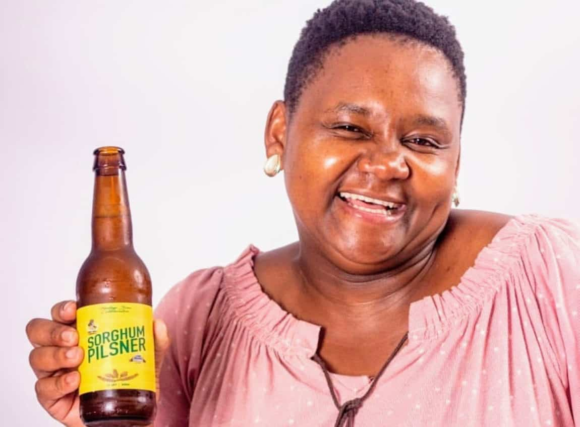 Apiwe Nxusani-Mawela gave new meaning to umqombothi with her craft beer version of the famous traditional beer. Photo: Supplied/Food For Mzansi
