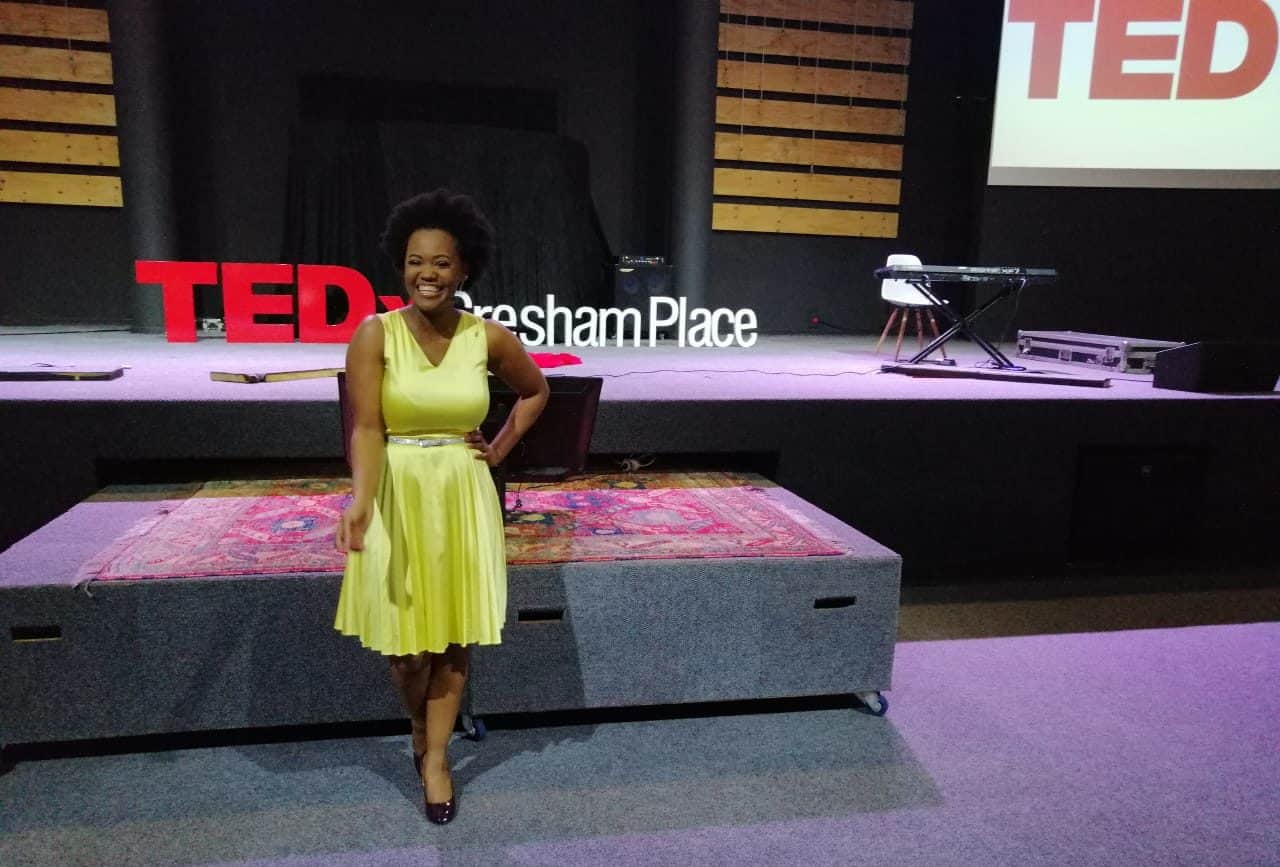 """Chikondi Dlamini did a talk on """"Being the indomitable future of agricultural engineering""""at the 2019 TEDx conference in Durban."""