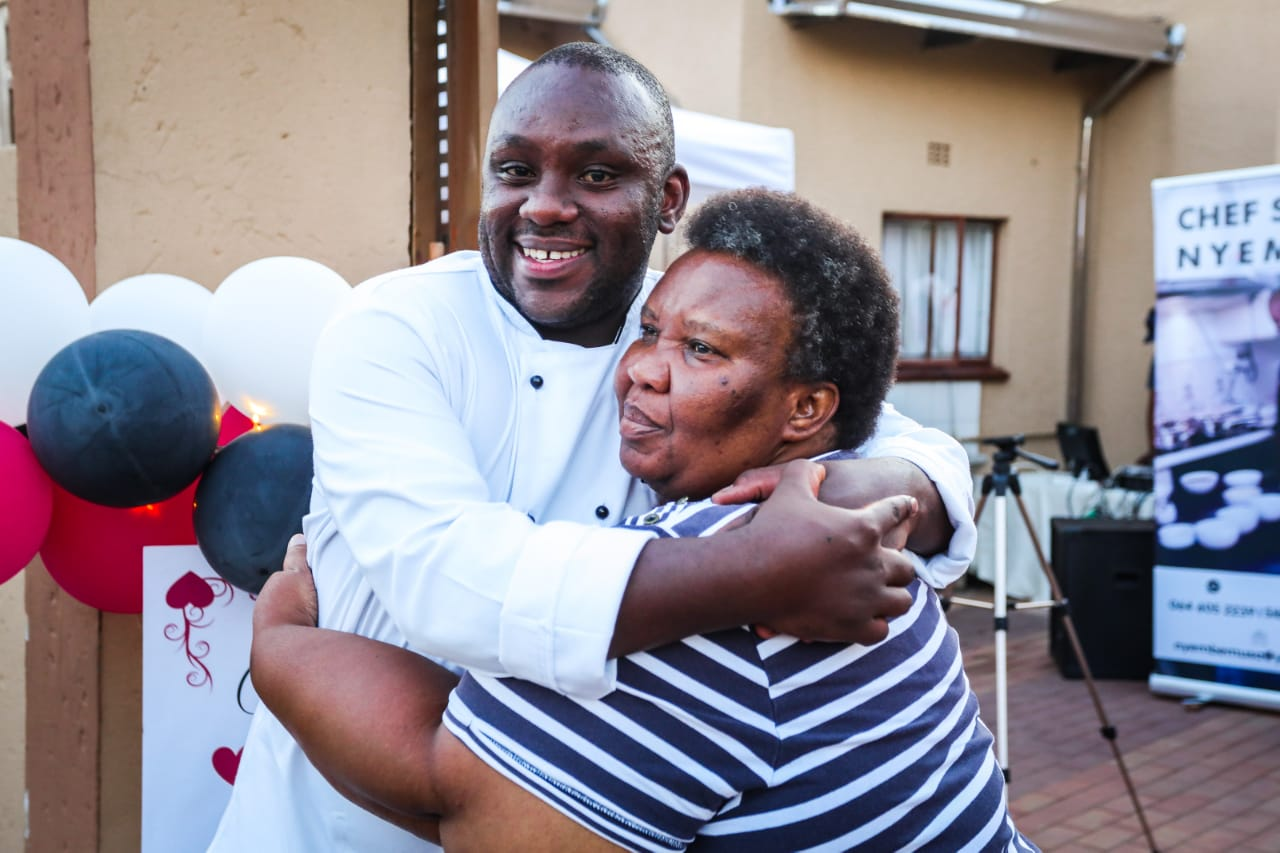 Sibu Nyembe and his mother - Zodwa.