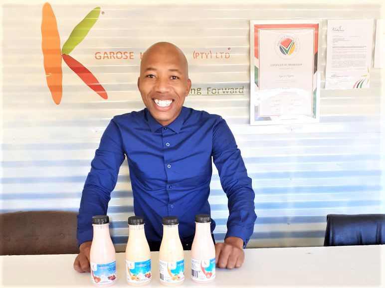 Edward Kgarose (30), owner of Kgarose Kgaros produces sweet potato yoghurt in three flavours, namely banana, strawberry and apricot.