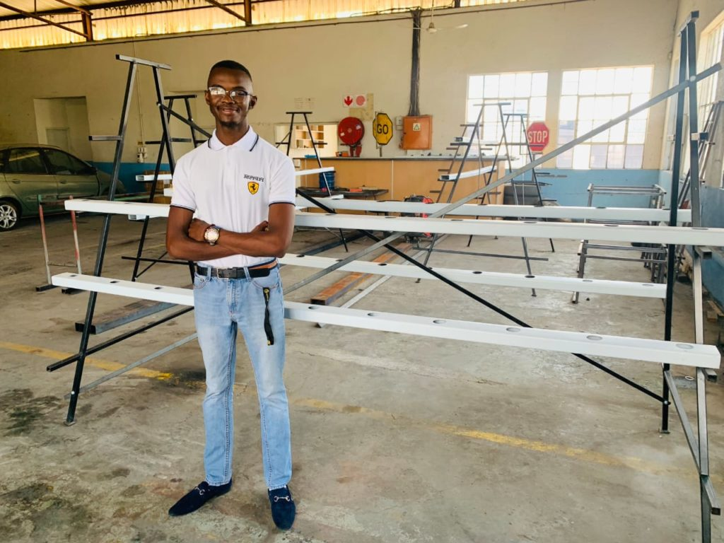 Percyval Alset is a a civil engineering student and does all the designing work of the hydroponic systems.