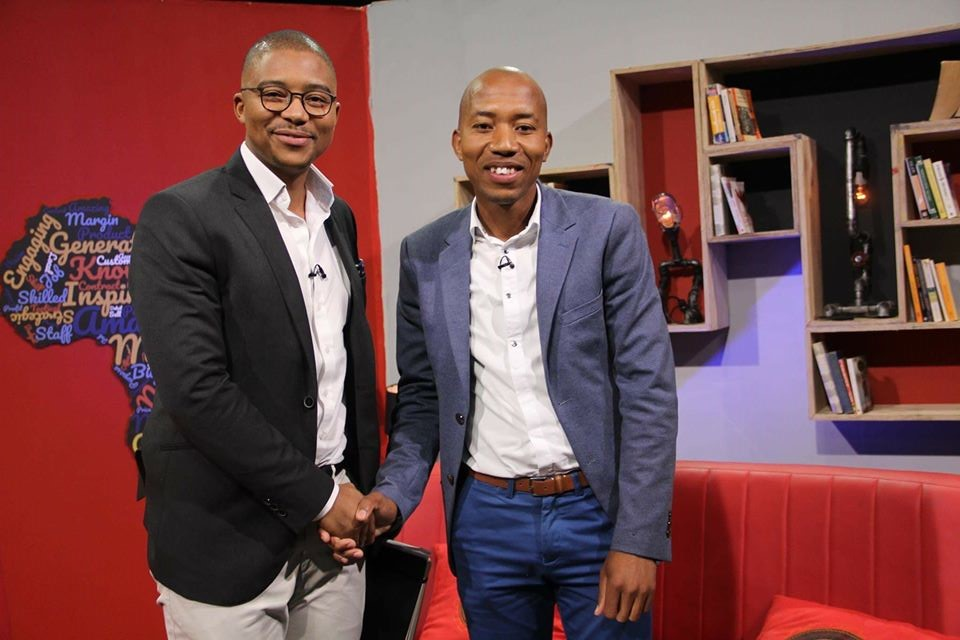Edward Kgarose on the set of Making Moves, aired on SABC 1.