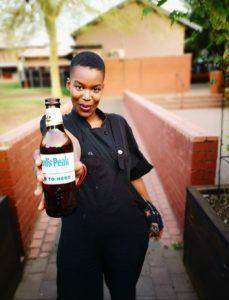 Mzongwana is a brand ambassadorforDevil's Peak Beer.