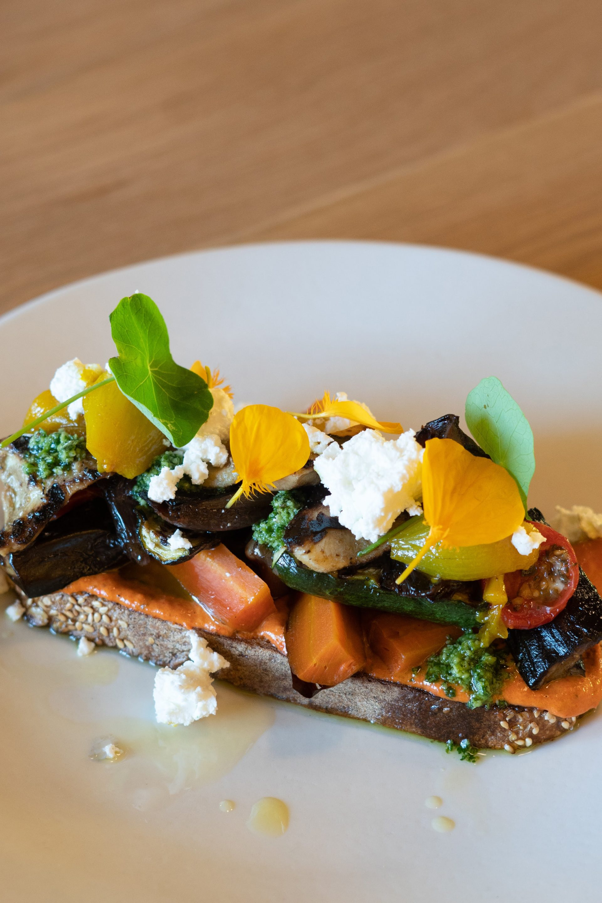 Chef Hennie Nel makes British favorite - Piccalilli served with a vegetable tartine on sourdough toast.