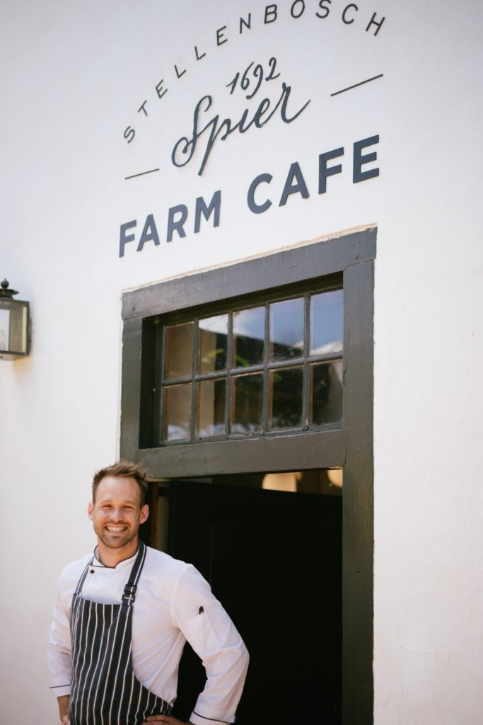 Nel takes the reigns as head chef of the Spier Farm Cafe in Stellenbosch.