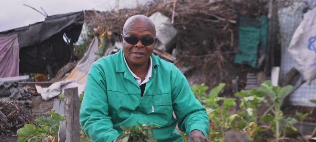Vuyo Tsika sells his vegetables to people living in the Delft community in the Western Cape and he donates some the produce to those who cannot afford.