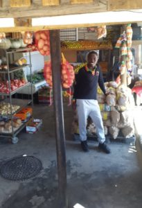 Ncamile Sotyu, fruit and vegetable seller who owns a spaza shop in Mbekweni in Paarl.