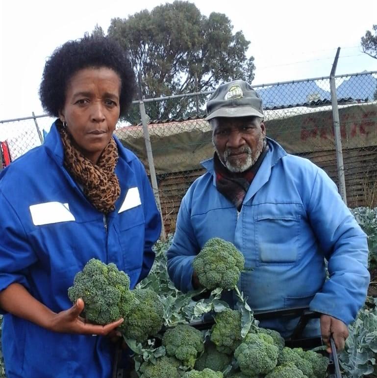 Nomonde Kweza pictured with Basela Boyisi.