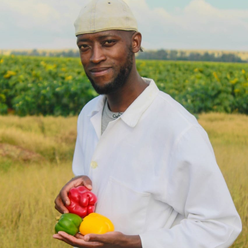 """Thapelo Phiri is one of earths """"groundkeepers"""". As an organic fertiliser specialists, he helps crop farmers get the most out of the land they farm on."""