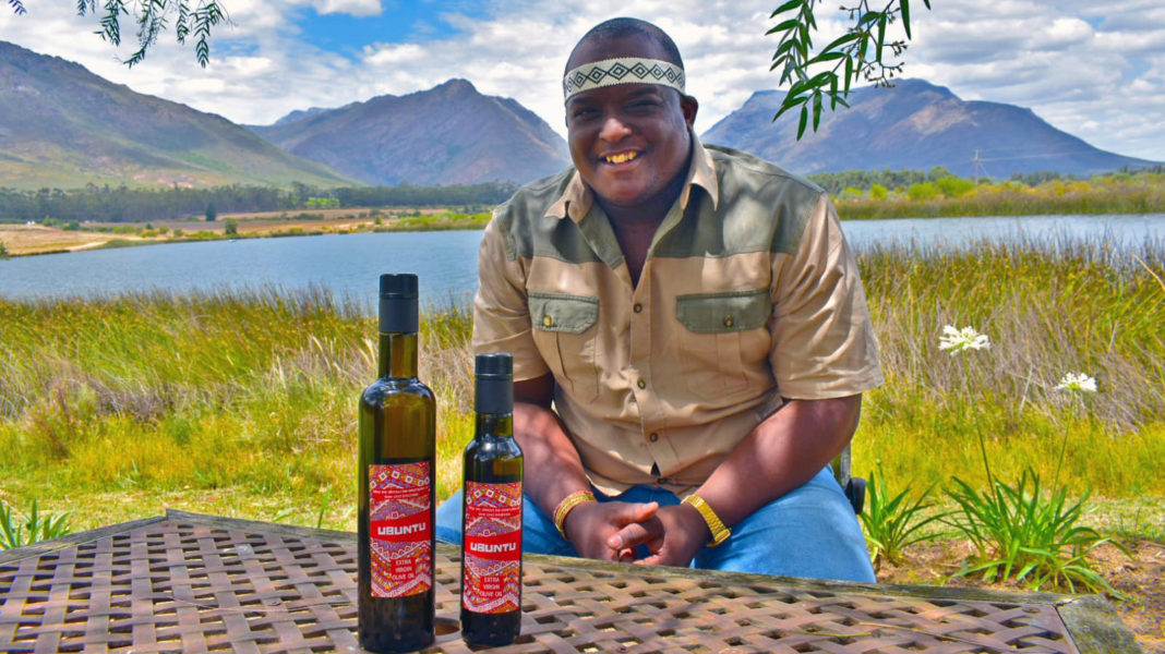 34-year-old, Loyiso Manga is the owner and visionary Ubuntu Extra Virgin Olive Oil brand. Picture: Babalwa Dlanjwa