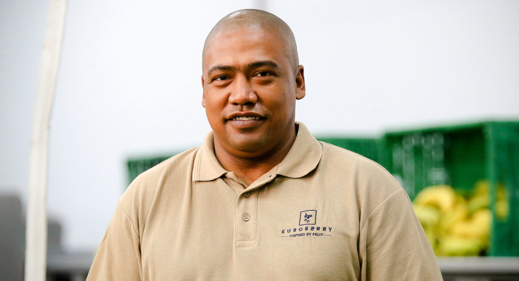 Peter McDonald is a food processing supervisor at a leading supplier of frozen fruit, purees and concentrates in South Africa. Photo: Euroberry.