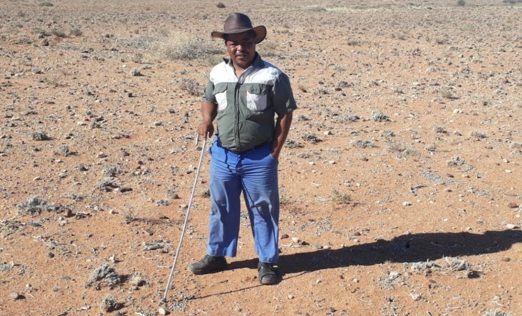 Ettiene van Wyk, a sheep farmer from Marydale in the Northern Cape: Photo: Supplied
