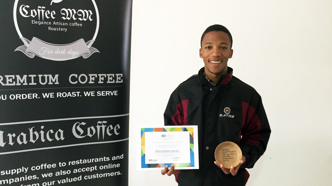 Founder of CoffeeMM, Mhlengi Ngcobo (25) was told by doctors to never consume caffeinated beverages, then he went and started a coffee roastery. Photo: Supplied.