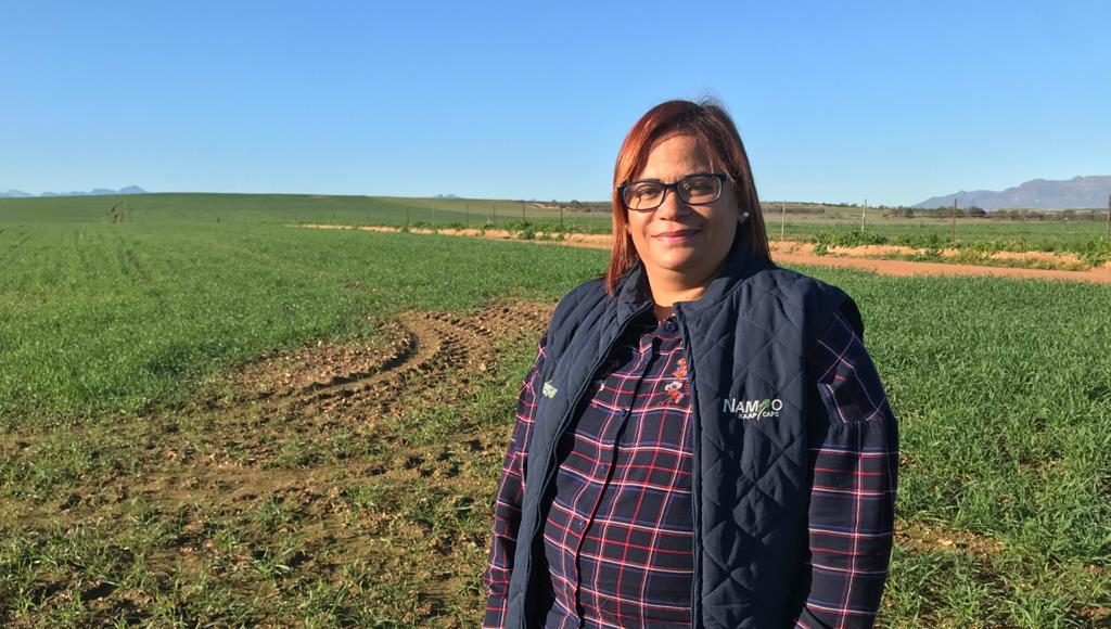 Alfreda Mars, an award-winning grain and sheep farmer. Photo: Food For Mzansi