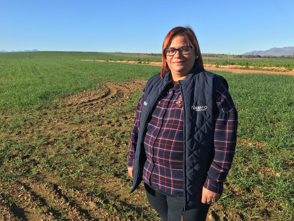 new agricultural bank: Alfreda Mars, an award-winning grain and sheep farmer. Photo: Food For Mzansi