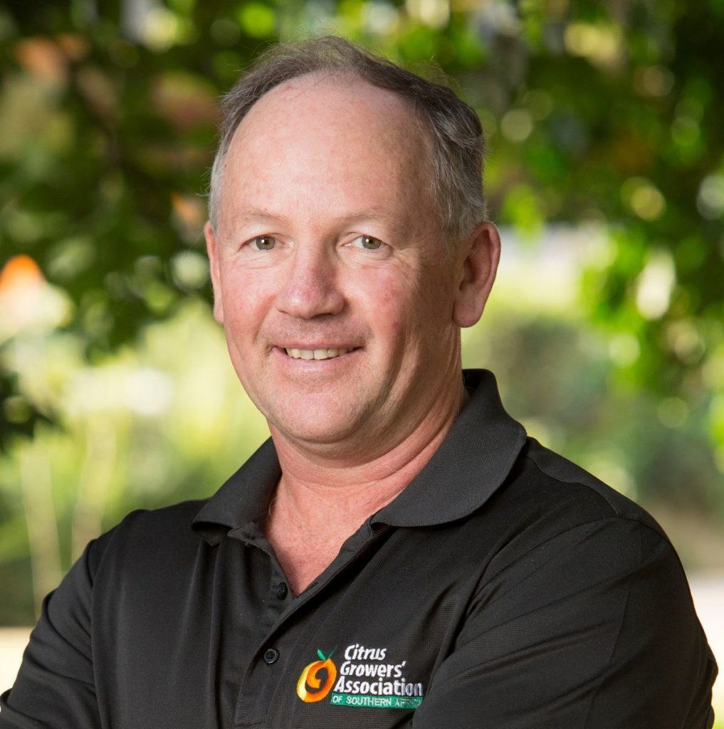 Justin Chadwick, CEO of the Citrus Growers Association and chairperson of Fruit SA's board. Photo: CGA