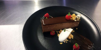 The dancing chef, Davante Donjeany makes this delectable treat, double chocolate mousse tart. Photo: Supplied