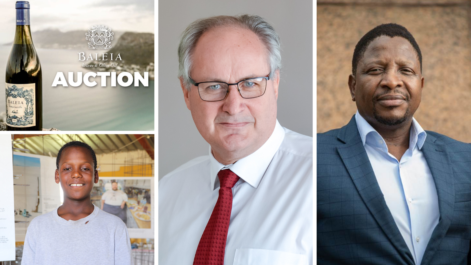 Pictured from the left to right (bottom) is 14-year-old Qhayiya Mhlahlo, CEO of Agbiz, Dr John Purchase and AgriSETA CEO, Zenzele Myeza. Photo: Supplied.
