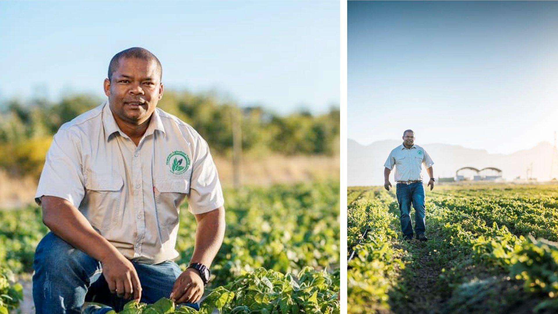 Vegetable farmer Sydney Claassen (40) sacrificed a lot to pursue a career in agriculture. Today he runs a successful 7-hectare farm in Stellenbosch, Western Cape. Photo: Sydney Claassen Facebook.