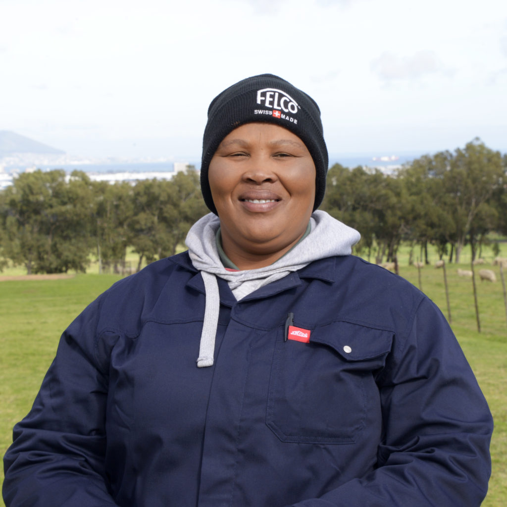 Jacintha September, a farmworker at De Grendel Wine Estate in Cape Town. Photo: Supplied