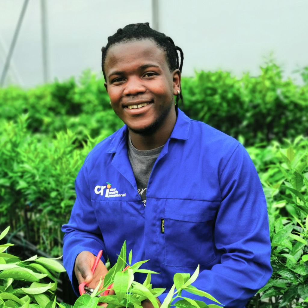 Sivenathi Ndzakayi from the Citrus Foundation Block in Uitenhage in the Eastern Cape. Photo: Supplied