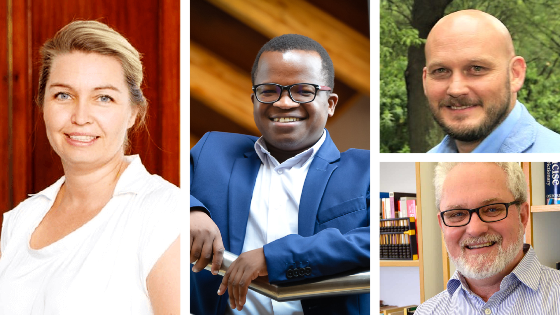 Pictured from left are Lianne Jones, produce marketing association country manager for South Africa, Wandile Sihlobo, chief economist at Agbiz, (top right) Dewald-Olivier, CEO of the South African Feedlot Association and (bottom right) Julian May, director of the NRF-DST Centre of Excellence in Food Security at the University of the Western Cape. Photo: Supplied.