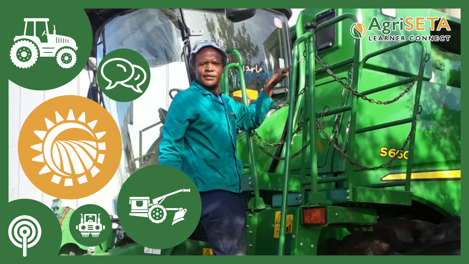 Mbangiswa Robert Kheswa is a tractor operator at Middenspruit Farm.