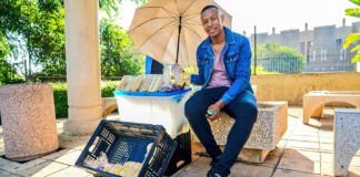 Itumeleng Lekomanyane is the owner of Sandwich Nton Nton, a street hustle he started with only R800. Today, he earns an income of close to R20 000 per month. Photo: Supplied/Food For Mzansi