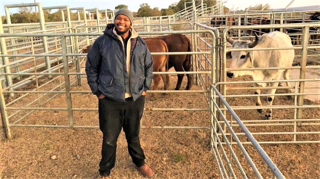 Athenkosi Denga is the co-owner of Lizwe Meat, a livestock business he started with his childhood friend. Photo: Supplied.
