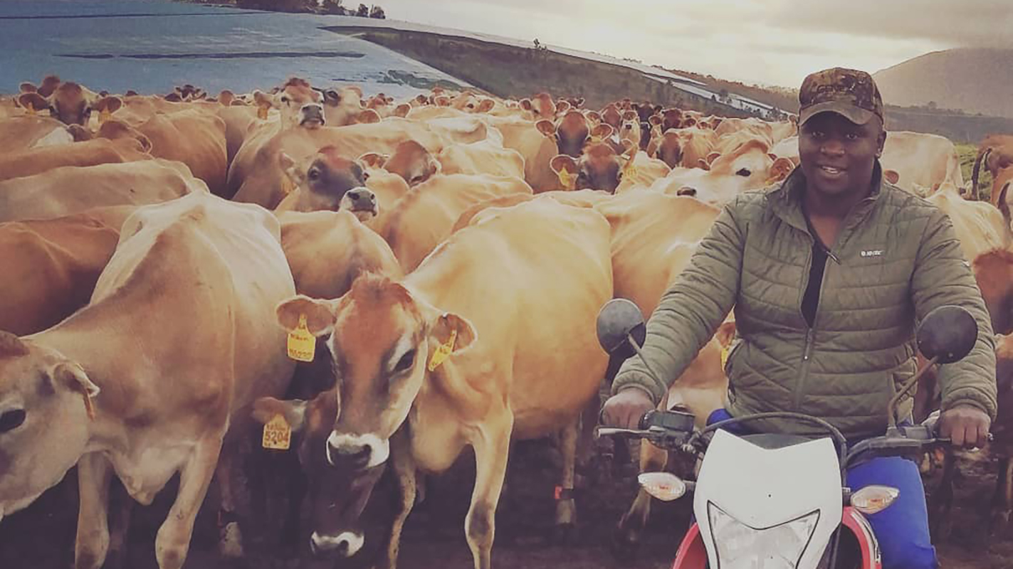 22-year pld Inga Butshingi is the farm manager of Van