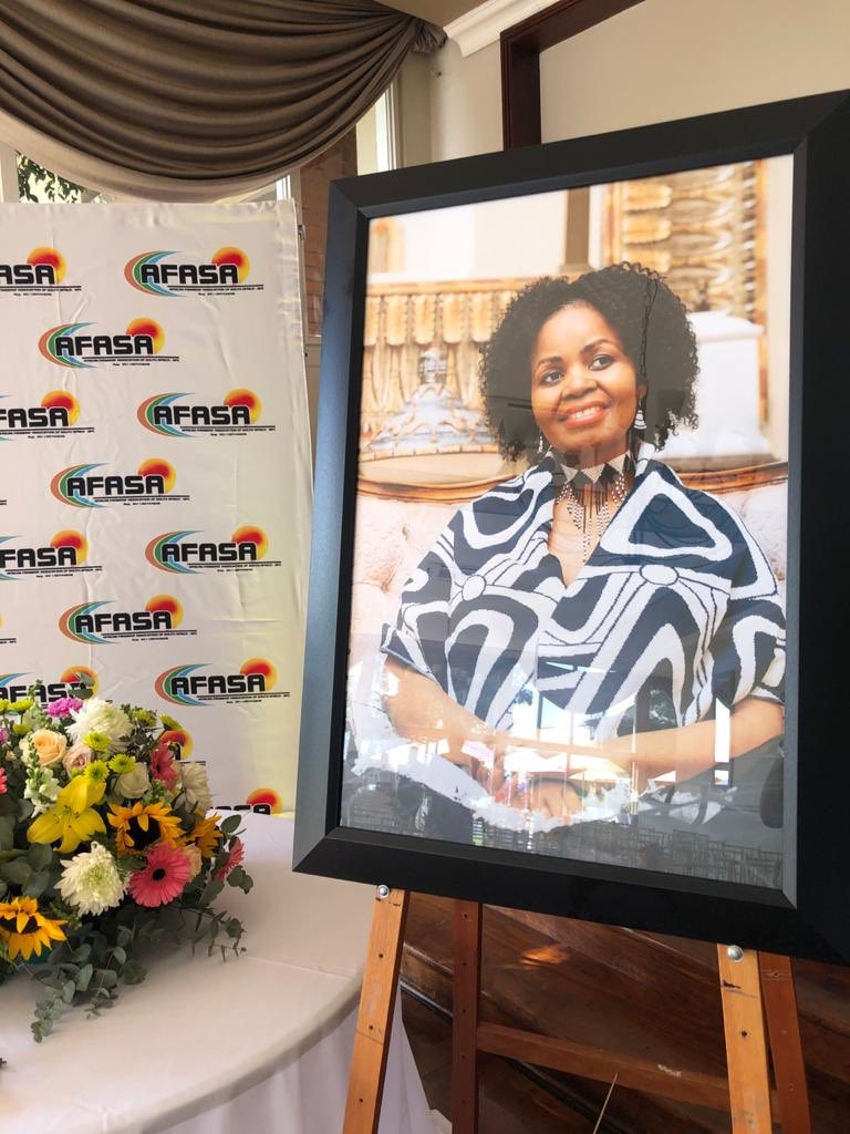 The African Farmers' Association of South Africa led the memorial service of their late president, Dr Vuyo Mahlati, at the Pretoria Country Club today. Photo: Twitter