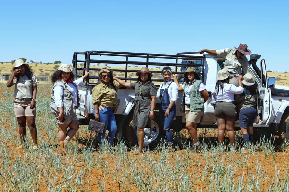 This farm-styled photo shoot of nearly 15 women and two children took place on a farm in Christiana on the banks of the Vaal River. Photo: Olebogeng Moshoeu