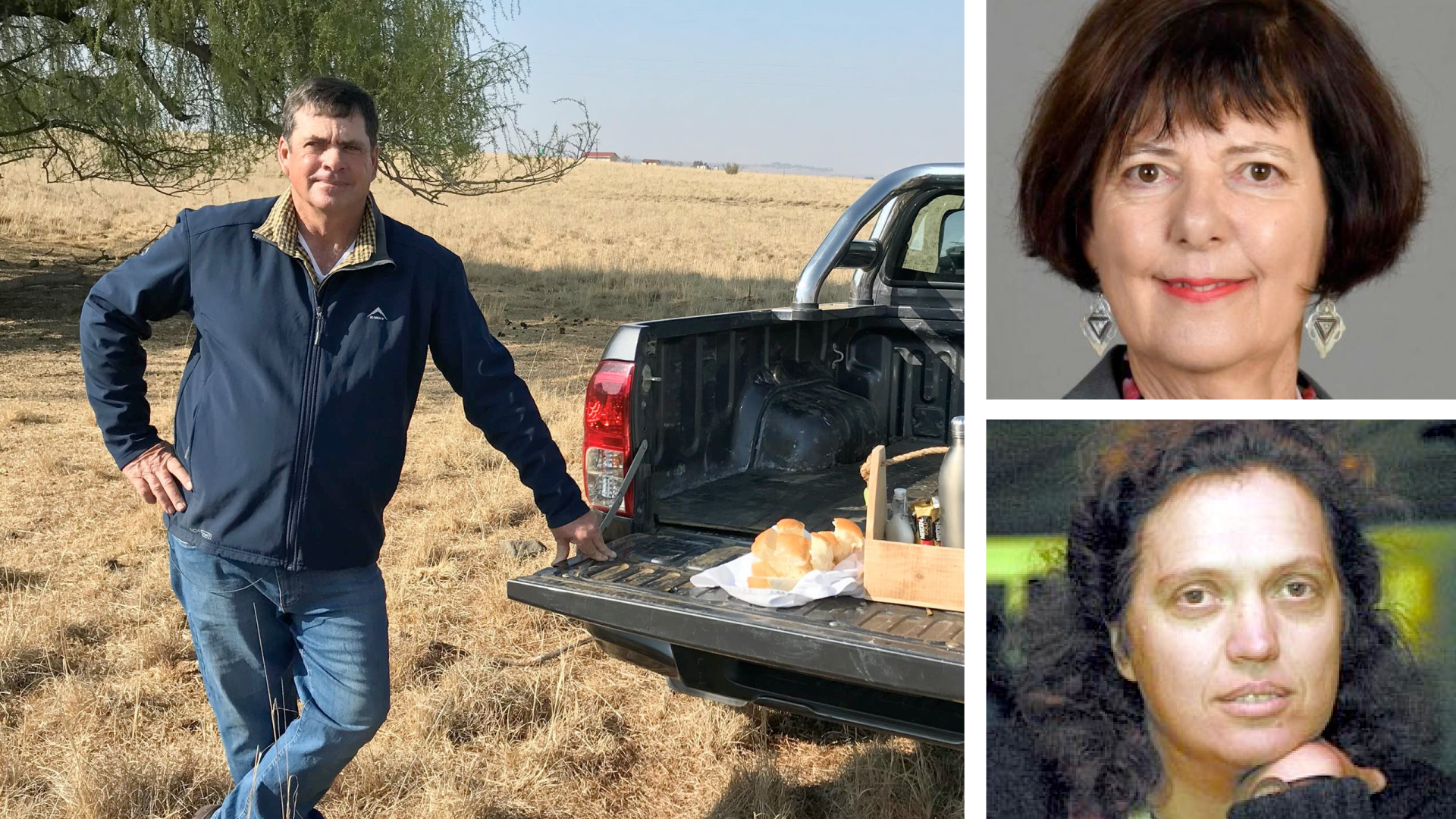 Pictured clockwise Wessel Bibbey, Free State farmer, Barbara Creecy, the minister of fisheries, forestry and the environment and Elfrieda Strauss, SKI coordinator. Photo: Supplied.