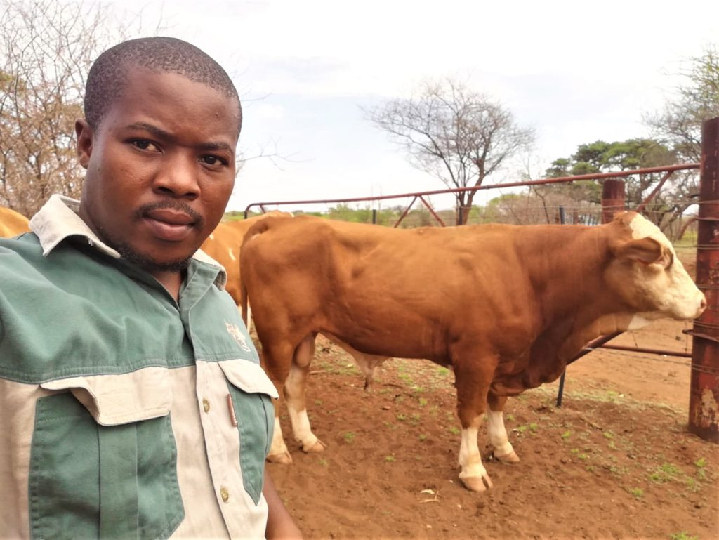 Matshogo tried his hand at farming in 2017 while in his final year of doing his Master's degree. Photo: Supplied.