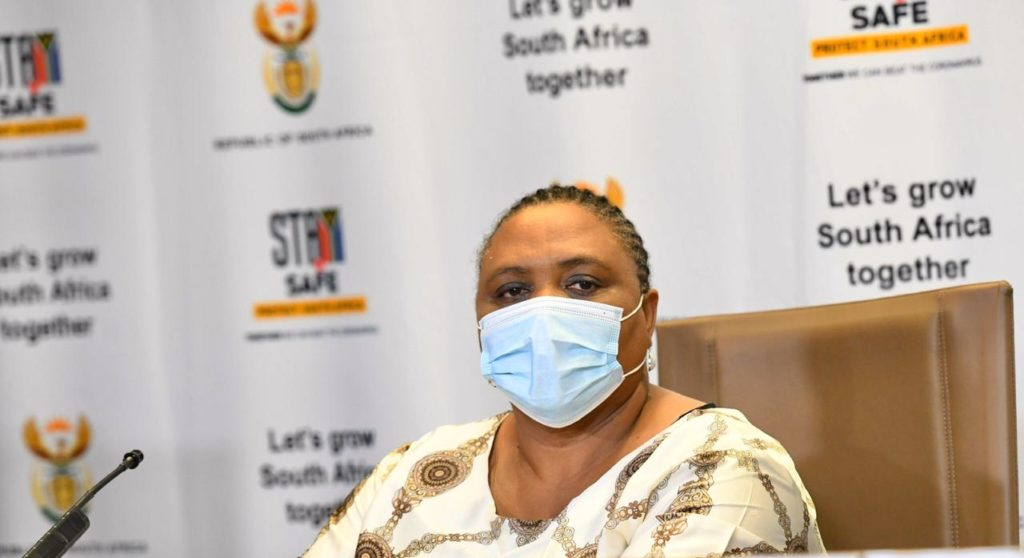 Thoko Didiza, the minister of agriculture, land reform and rural development during a media briefing earlier today. Photo: Government ZA