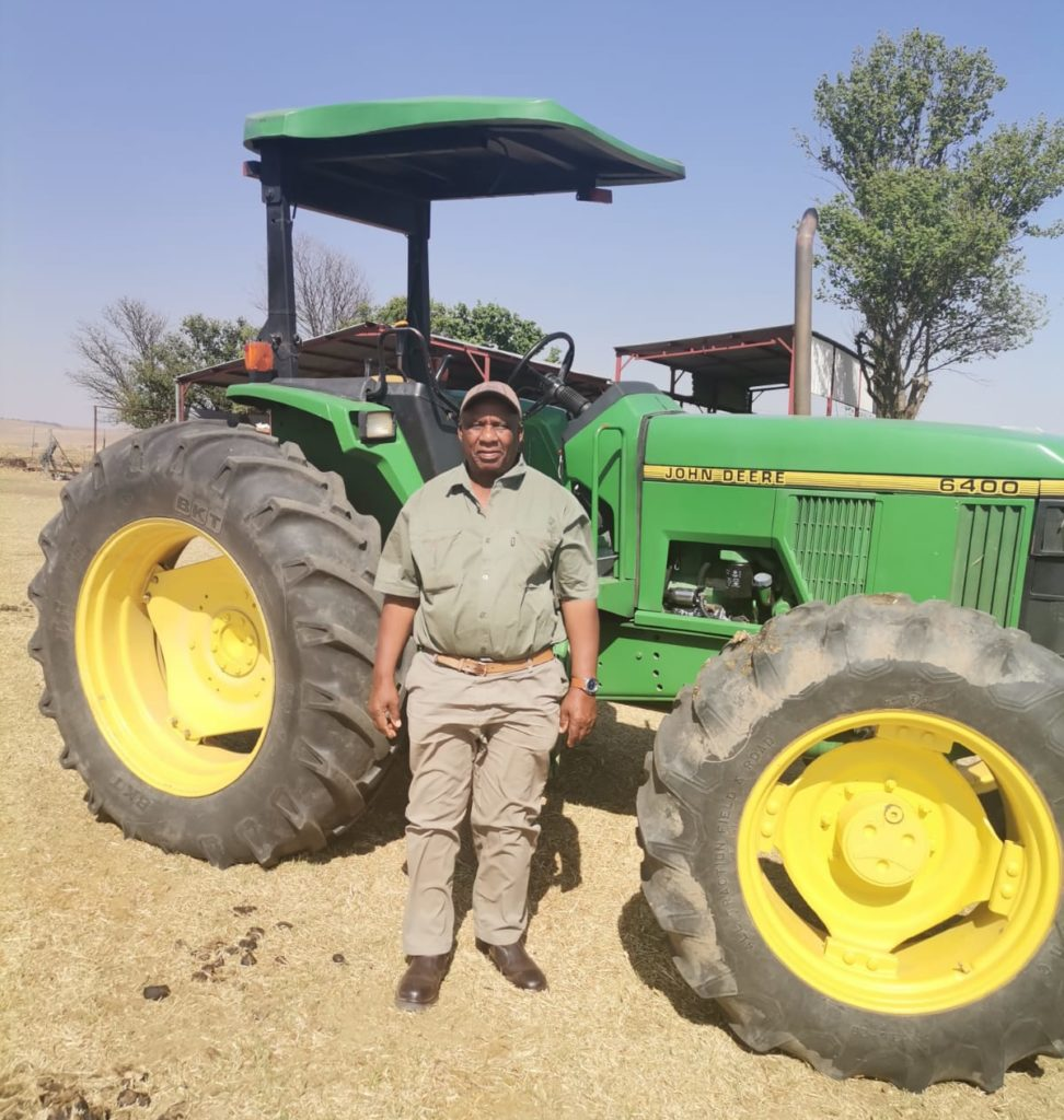 Samson Mahlaba farms on 300 hectares in Reitz in the Free State. He is featured on the new TV show For The Love Of The Land. Photo: Supplied/Food For Mzansi