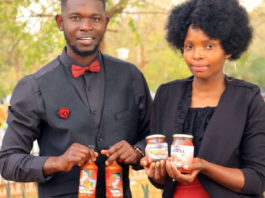 Chilli Sauce Phathutshedzo Madula and Mpfariseni Rasimphi are the owners of Marvel Chilli Sauce producing three products, including tomato jam, fruits jam and vegetable atchaar sauces. Photo: Supplied