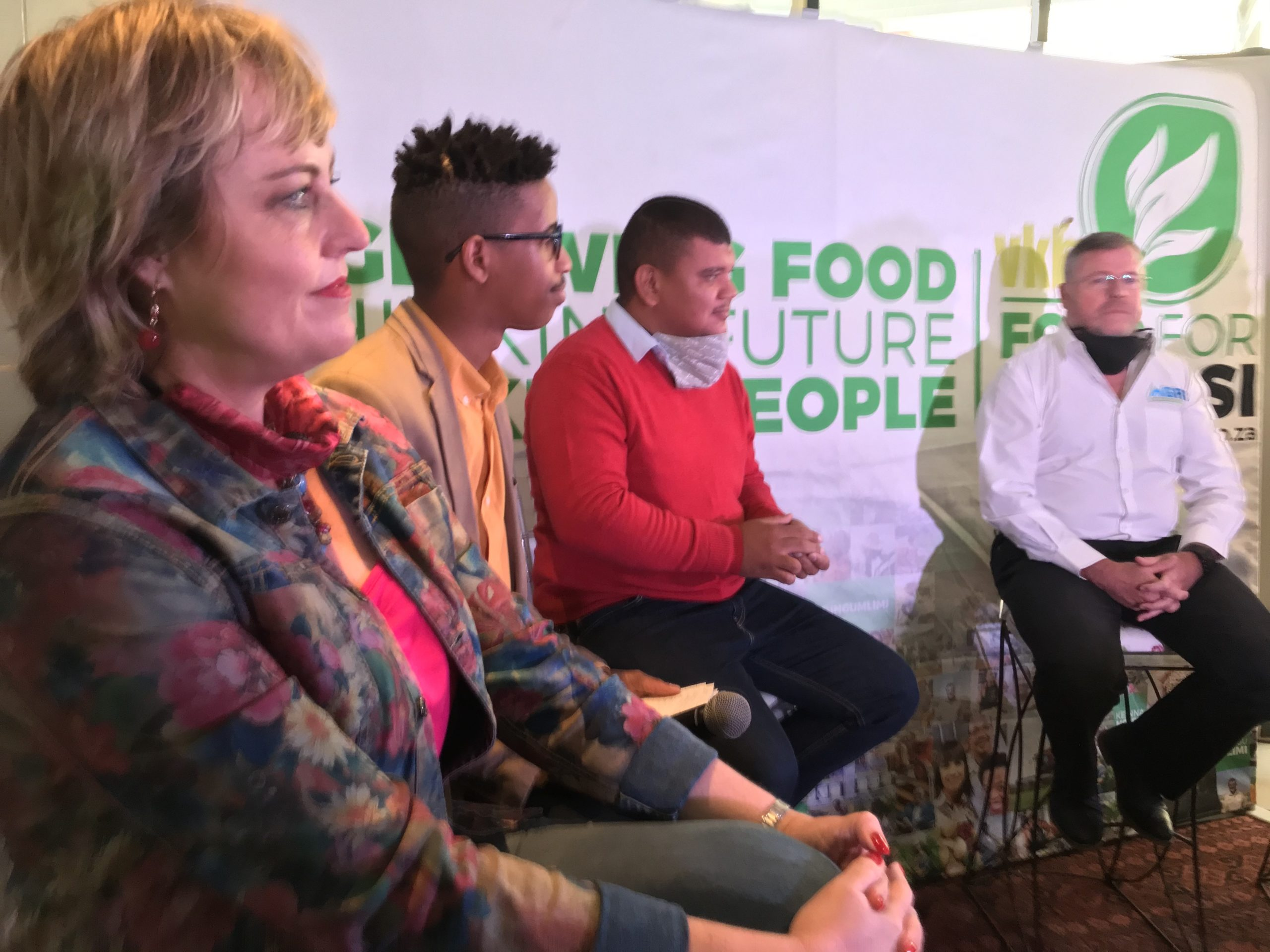 Cotton SA's Tanya Aucamp, Duncan Masiwa from Food For Mzansi and Breyton Milford from Agri-Expo. Photo: Food For Mzansi