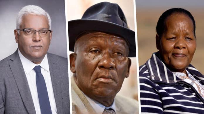 Pictured (from left) are KwaZulu-Natal finance minister, Ravi Pillay, police minister, Bheki Cele and Mahadi Mopeli, Free State farmer. Photo: Supplied.