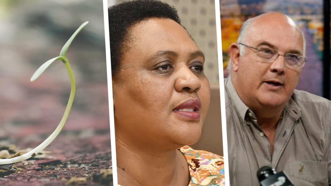 Pictured (from left) Thoko Didiza, minister of agriculture, land reform and rural development and president of the World Farmer's Organisation (WFO), Theo De Jager. Photo: Supplied
