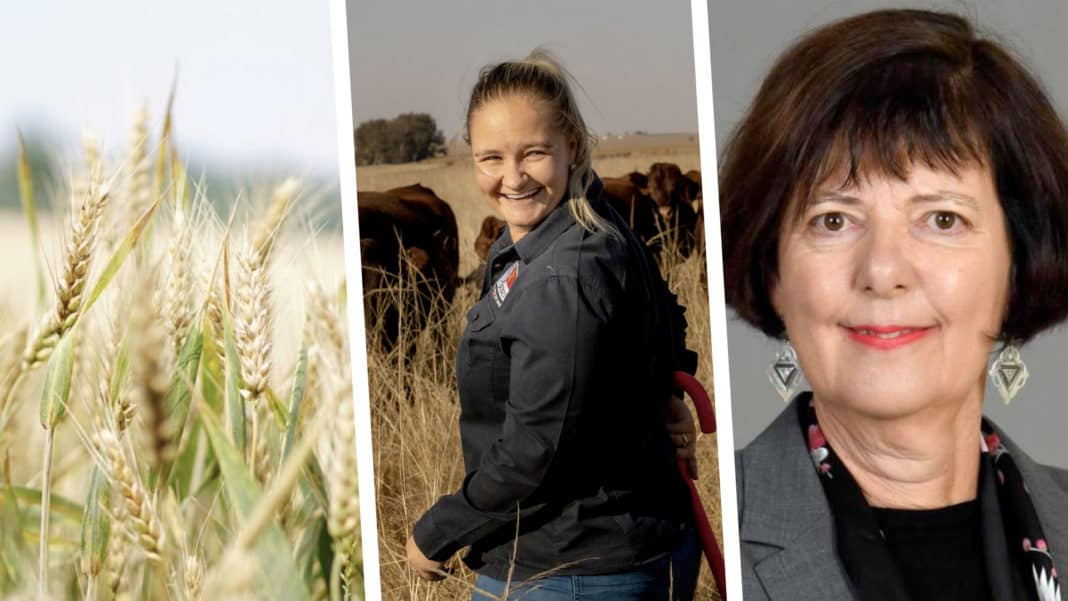 Pictured (from left to right) Annalea van Niekerk, Free State farmer and Barbara Creecy, the minister of fisheries, forestry and the environment. Photo: Supplied.