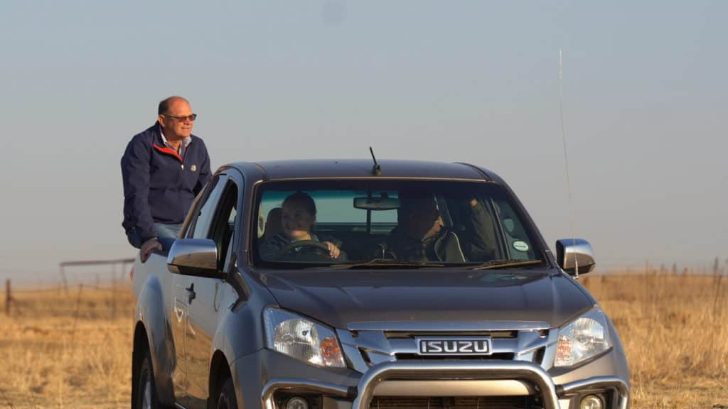 Ivor Price and Piet Potgieter takes a drive through the farm, Annelea van Niekerk farms on.