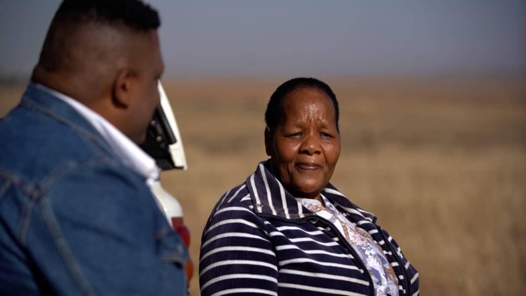 """I took a leap of faith when I left my job (as a librarian) because I didn't have land and I didn't have enough money, but I knew it was something I had to do. I was passionate about farming,"" says Free State farmer Mahadi Mopeli. Photo: WYRD Films"