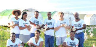 Meet the shareholders of Farmer Angus EGGS. From the top left are Phello Ntlati, Neliswa Mbengana, Thobelani Mngomezulu, Menzi Khoza, Angus McIntosh and Mawethu Xamle. From the front left are Thabani Lamula, Zanele Hlabisa and Mbhekiseni Khoza. Photo: Supplied